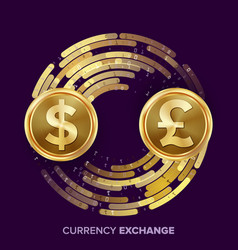 Money currency exchange dollar gbp vector