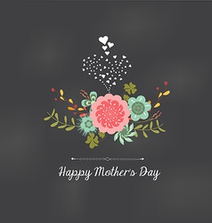Mothers day florals greeting card vector