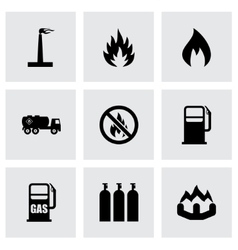 natural gas icon set vector image