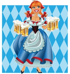 Oktoberfest girl on background vector