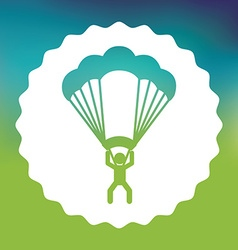 parachute flight vector image