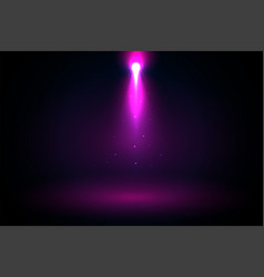purple spotlight rays falling from above vector image