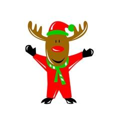 Reindeer deer retro vector