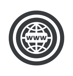 Round black global network sign vector image