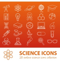 Science outline icons vector