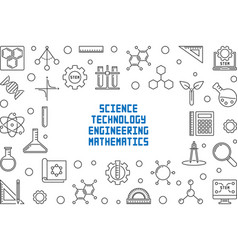 science technology engineering and math concept vector image