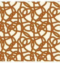 Seamless rope loops pattern vector