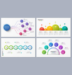 Set of contemporary infographic designs concepts vector
