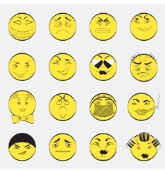 Set of Emoji Characters vector