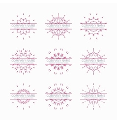 Simple pink geometric abstract symmetric shapes vector