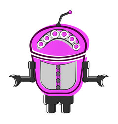 sketch of a cute robot vector image