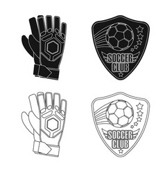 Soccer and gear sign set vector