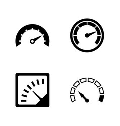Speedometer speed measurement simple related icons vector