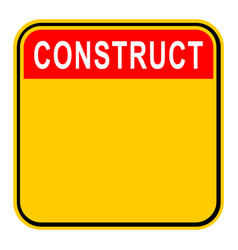sticker construct safety sign vector image