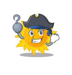 Summer sun cartoon design style as a pirate with vector