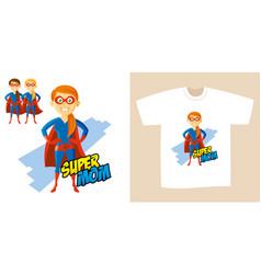superhero woman supermom cartoon character vector image