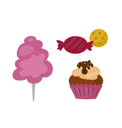 Sweets food bakery dessert sugar confectionery vector
