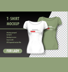 t-shirt mockup with loading and funny phrase in vector image