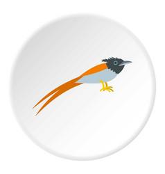 Terpsiphone paradisi icon circle vector