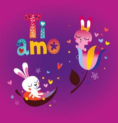 ti amo i love you in italian vector image