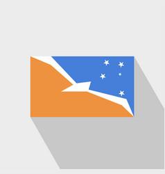 Tierra del fuego province argentina flag long vector