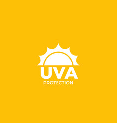 Uva protection label vector