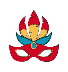 women carnival mask vector image