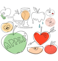 Apple collection vector image