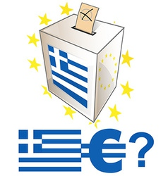 greek election day vector image