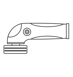 grinder machine icon outline vector image