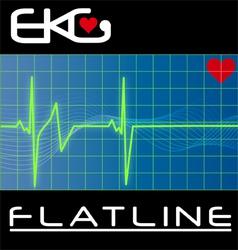 keg flat line vector image vector image