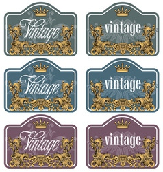wine labels32 vector image vector image
