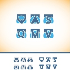 Alphabet letter logo icon set vector image vector image