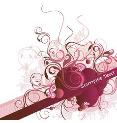 floral vine banner vector image vector image