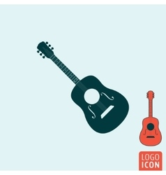 Guitar icon isolated vector image vector image
