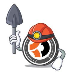 Miner bitcoin dark mascot cartoon vector