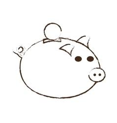 save money piggy coins bank sketch vector image vector image