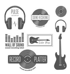 Set of badge label sticker emblem print and vector image