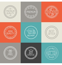 set of labels badges and emblems vector image