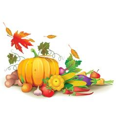 Still life of autumn harvest vector image