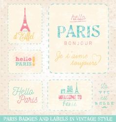 Paris Greeting Card Design Elements vector image vector image
