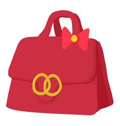 red lady handbag icon cartoon style vector image