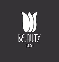Tulip beauty floral design logo vector image
