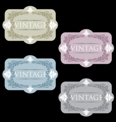 wine labels33 vector image vector image