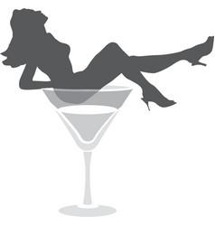burlesque dance female silhouette vector image