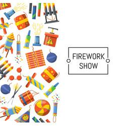 cartoon pyrotechnics background vector image
