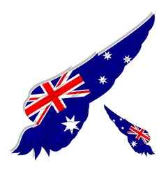 Flag of Australia on Abstract wing vector image