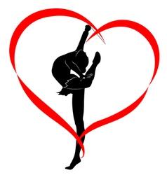 gymnastics logo vector image vector image