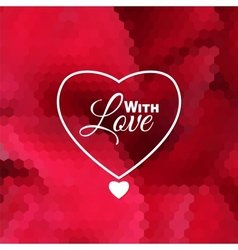 Love holiday invitation card vector image vector image