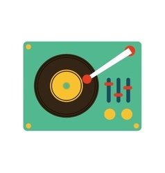 retro music player icon vector image vector image